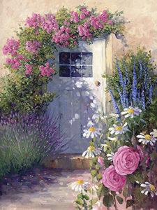 Door with Pink Roses
