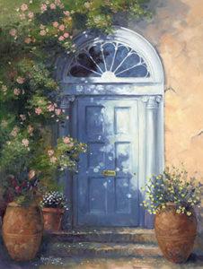 Door with Terracotta Pots